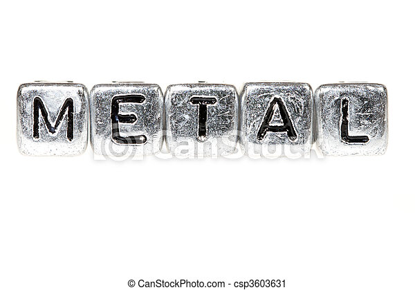 Metal spelled out - csp3603631