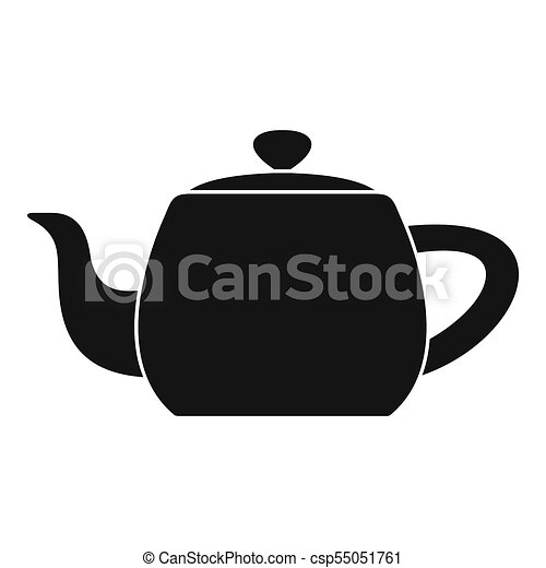 Metal teapot icon, simple style - csp55051761