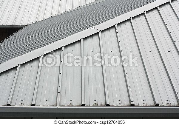 metal, telhado, fundo - csp12764056