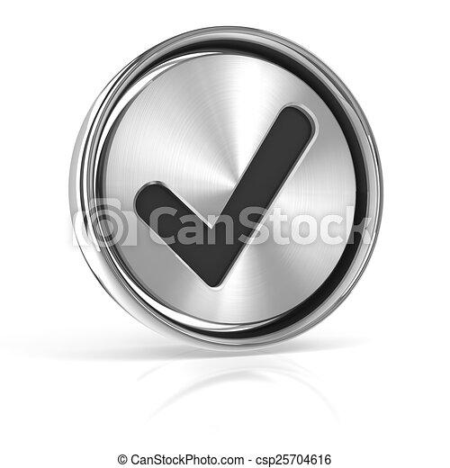 Metal tick icon - csp25704616