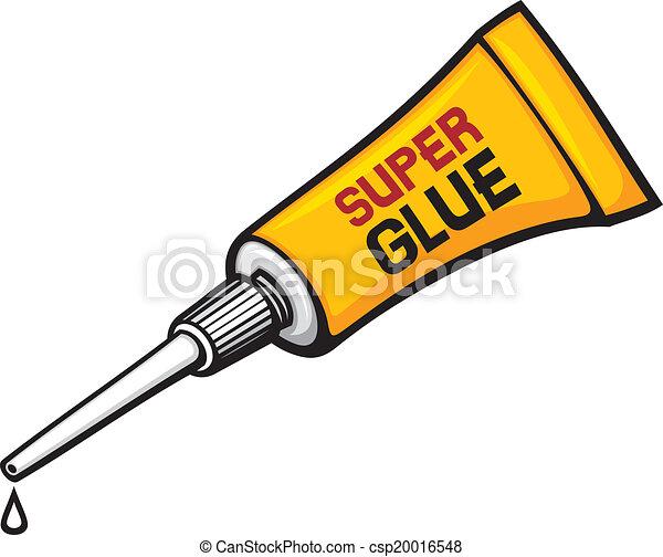 metal tube of super glue  - csp20016548