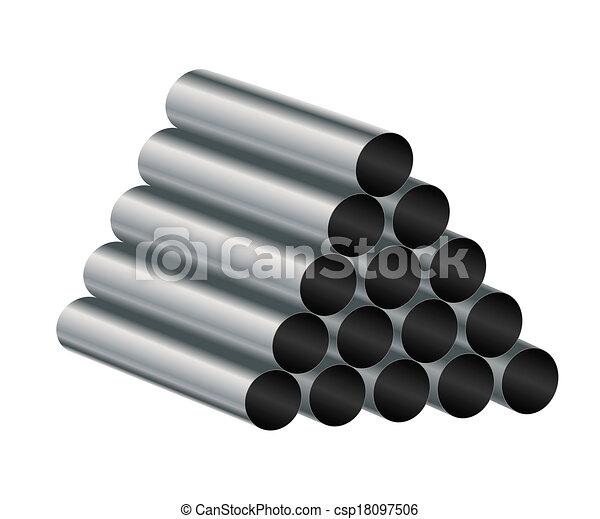 Metal tube. - csp18097506