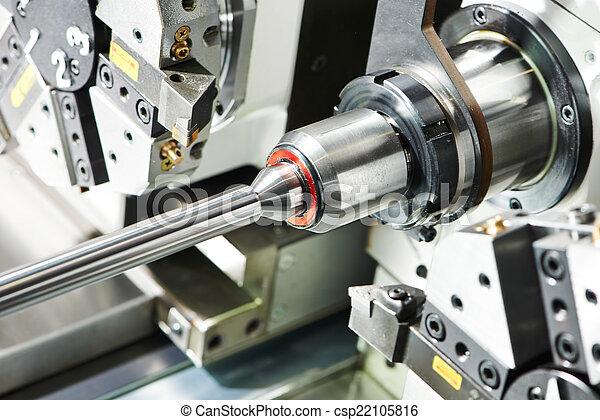 metal turning process on machine tool - csp22105816