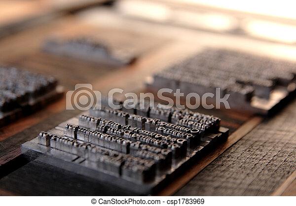 metal type blocks - csp1783969