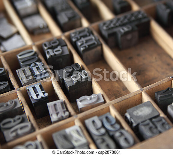 metal type in a case - csp2878061