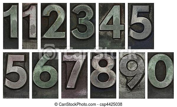 Metal type numbers - csp4425038