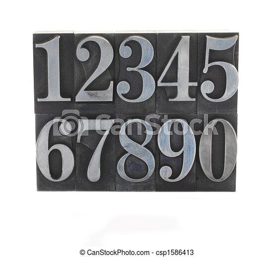 metal type numbers - csp1586413
