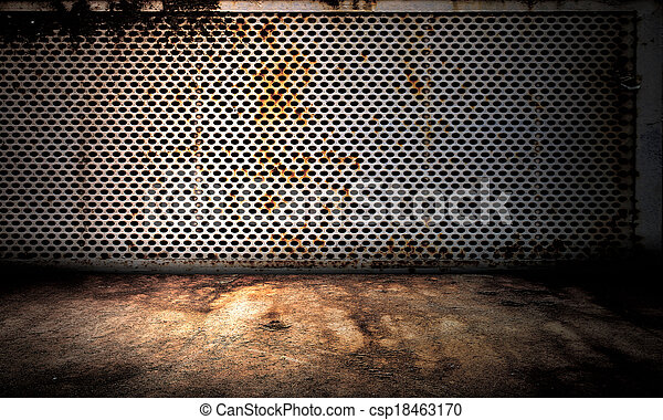 Metal Wall Interior Stage - csp18463170