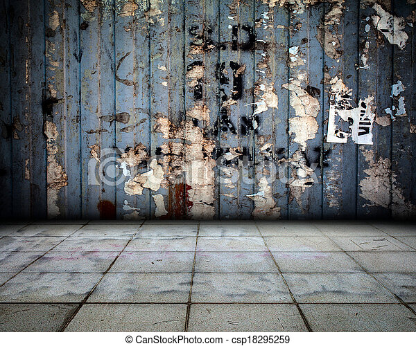 Metal Wall interior Stage - csp18295259