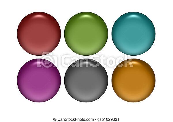 Metal Web Buttons - csp1029331