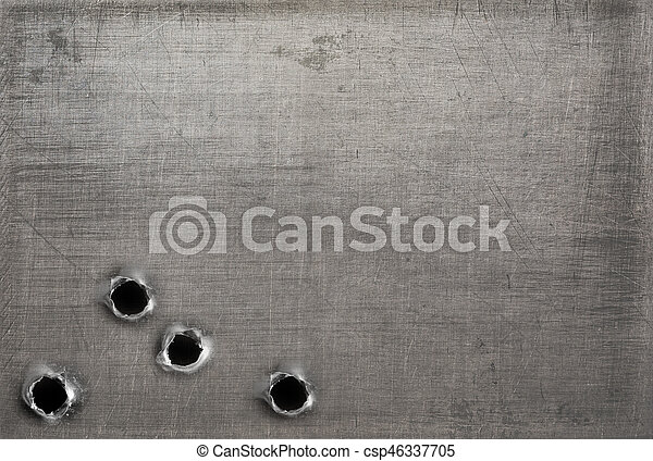 Metal With Bullet Holes