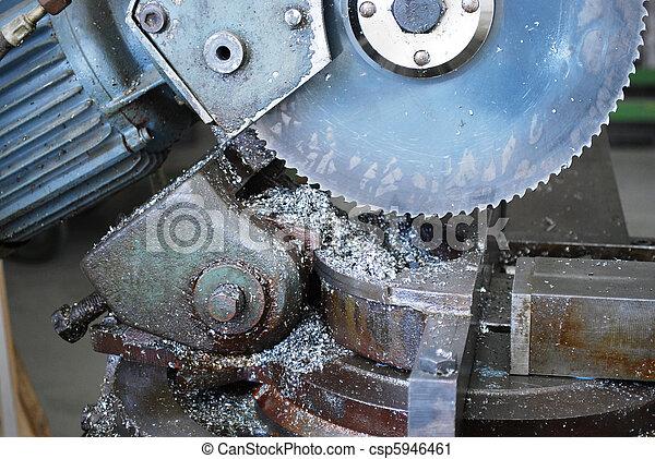 Gut gemocht Metall, industrie, säge. Schließen, industrie, fabrik, säge, auf. YV72