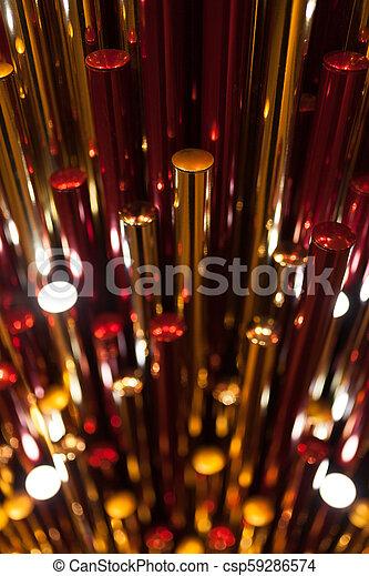 Trasfondo plástico de metall rojo dorado - csp59286574