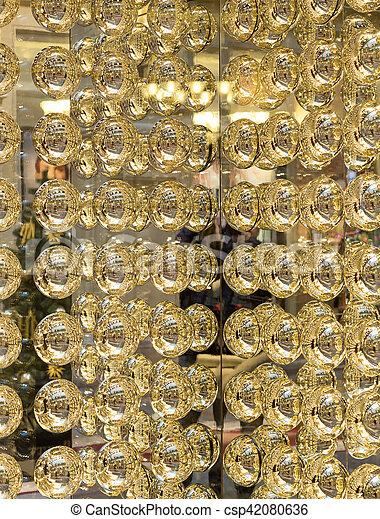 Textura abstracta de bolas metall de oro - csp42080636