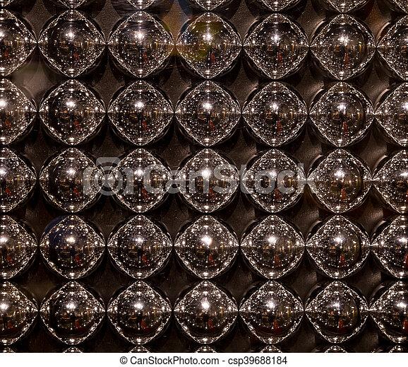 Textura abstracta de bolas metall - csp39688184