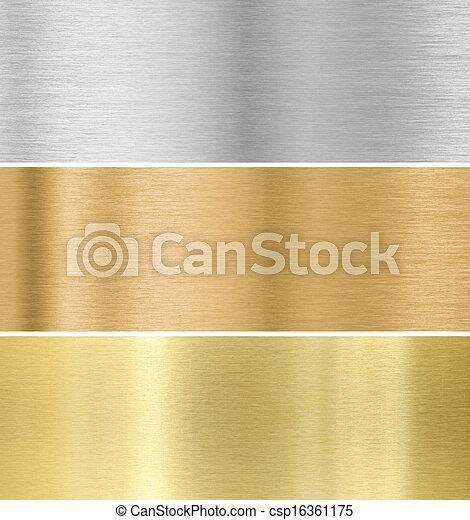 metall, sammlung, gold, beschaffenheit, hintergrund, silber, :, bronze - csp16361175