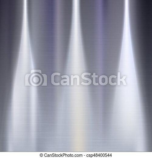 Fondo de textura Metall. - csp48400544