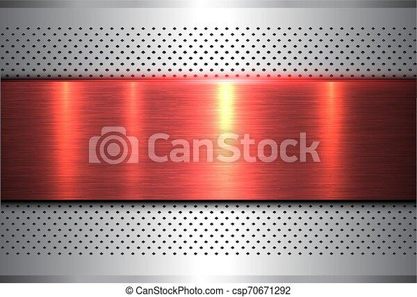 Metallic background silver red - csp70671292