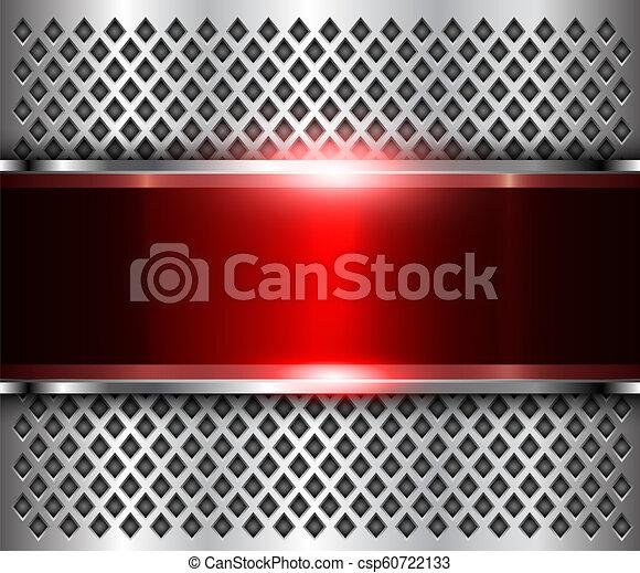 Metallic background silver red - csp60722133