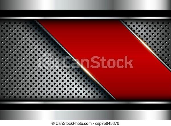 Metallic background silver red - csp75845870
