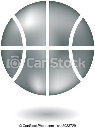Metallic basketball - csp3933729