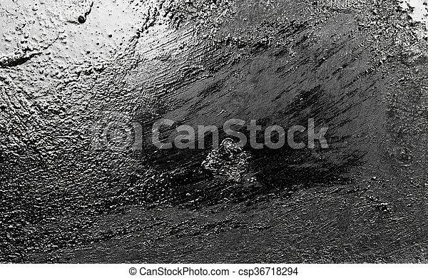 metallic black background - csp36718294