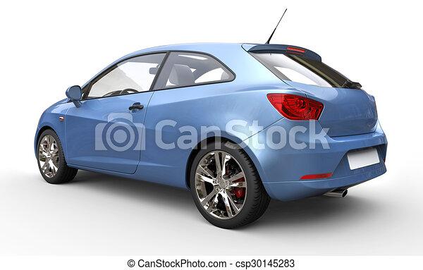 Metallic Blue Compact Car - csp30145283