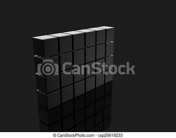 metallic cubes - csp25619233