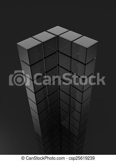 metallic cubes - csp25619239
