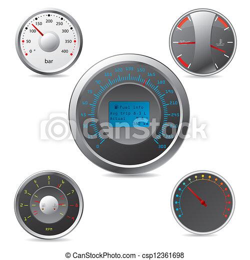 Metallic gauges set  - csp12361698