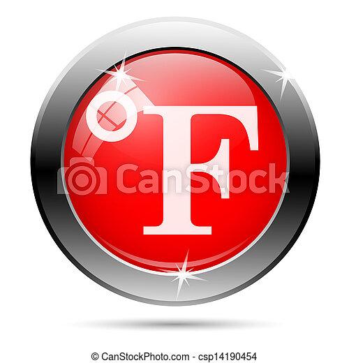 Metallic glossy icon - csp14190454