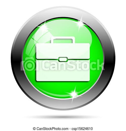Metallic green glossy icon - csp15624610