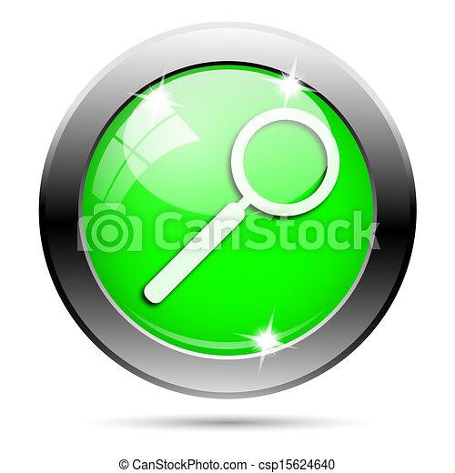 Metallic green glossy icon - csp15624640