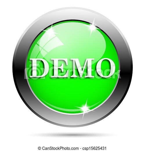 Metallic green glossy icon - csp15625431