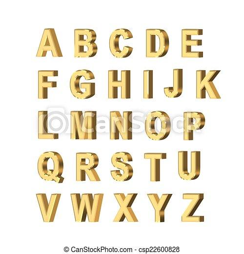 metallic letters - csp22600828