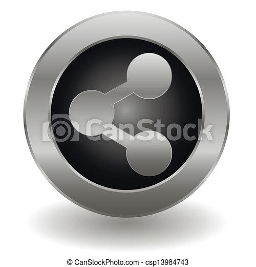 Metallic share button - csp13984743
