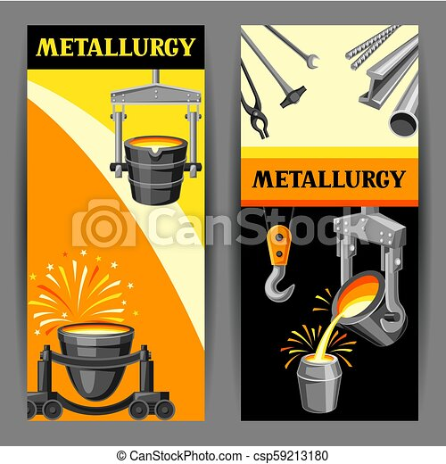 Metallurgical banners design. - csp59213180