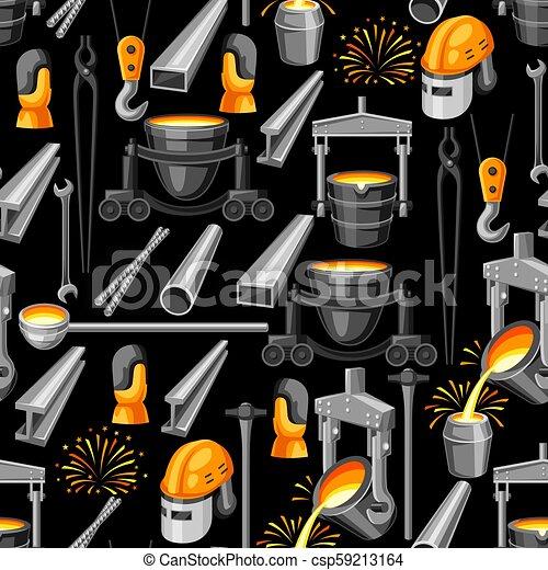 Metallurgical seamless pattern. - csp59213164