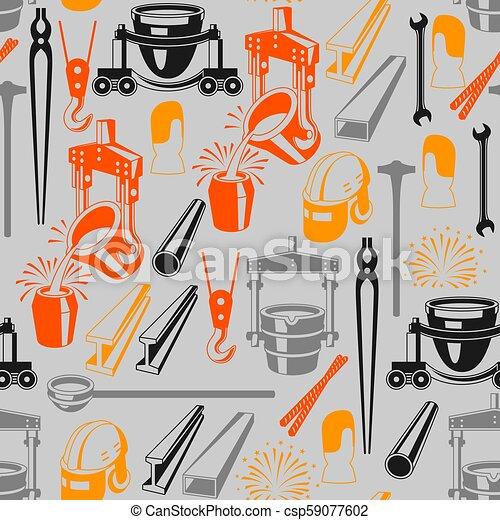 Metallurgical seamless pattern. - csp59077602