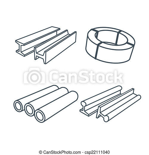Metallurgy products icons set - csp22111040