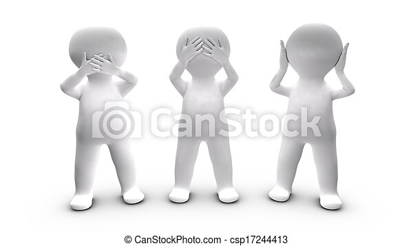 metaphor of a persons who choose not to speak ear and see this rh canstockphoto com Ant Clip Art Scanner Clip Art