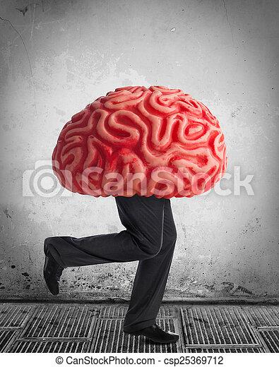 Metaphor of the brain drain - csp25369712