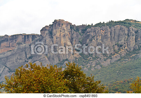 Meteora cliffs and monasteries - csp8451893