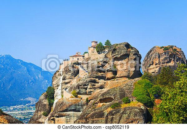 Meteora monastery in Greece - csp8052119