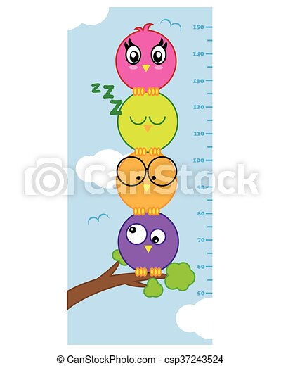 meter wall birds - csp37243524