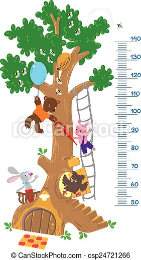 meter wall with big tree and funny animals meter wall or height rh canstockphoto com funny christmas tree clip art funny christmas tree clip art