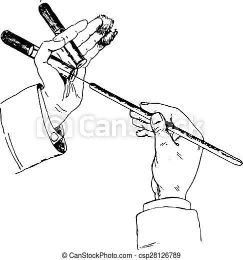 method of holding tube cotton and platinum wire while inculcating Wire Head method of holding tube cotton and platinum wire while inculcating solid media vintage engraving
