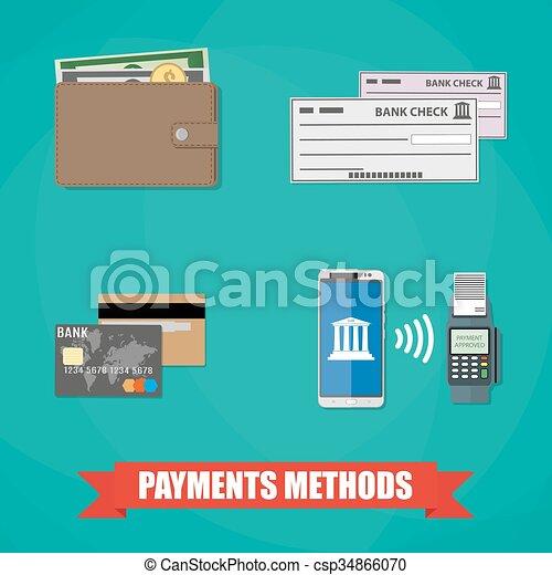 methodes, betaling, iconen - csp34866070
