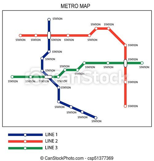 Subway Map Design.Metro Or Subway Map Design Template City Transportation Scheme