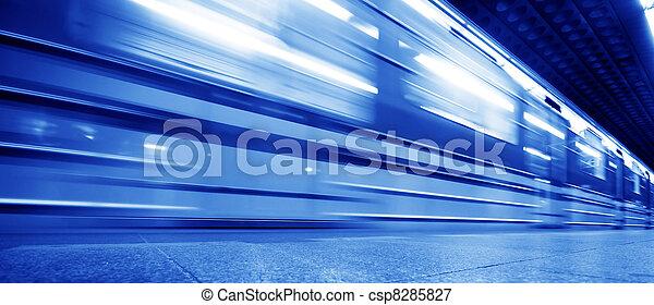 metro, ruch, pociąg, dynamiczny - csp8285827